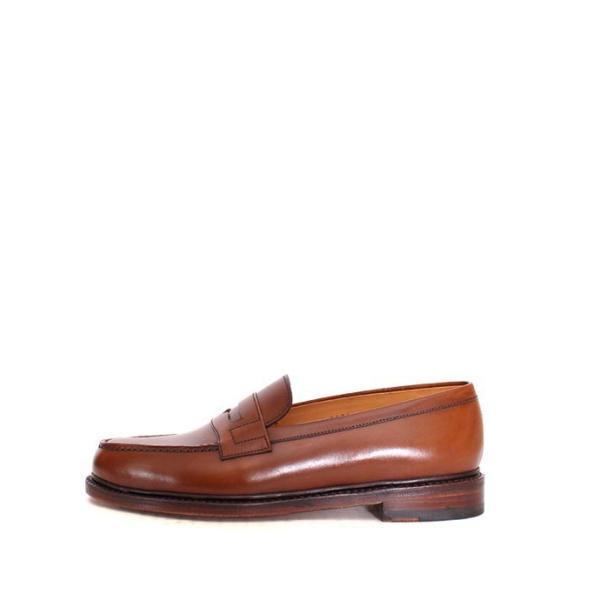 JALAN SRIWIJAYA ジャランスリウァヤ 98589 ブラウン コインローファー ペニーローファー Uチップモカ カーフレザー レザーソール|loop-shoes