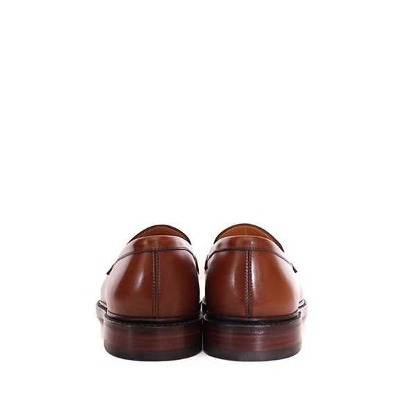 JALAN SRIWIJAYA ジャランスリウァヤ 98589 ブラウン コインローファー ペニーローファー Uチップモカ カーフレザー レザーソール|loop-shoes|02