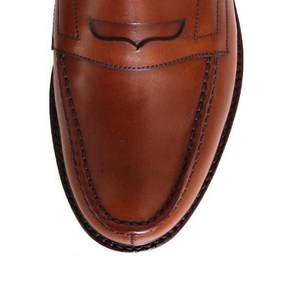JALAN SRIWIJAYA ジャランスリウァヤ 98589 ブラウン コインローファー ペニーローファー Uチップモカ カーフレザー レザーソール|loop-shoes|11