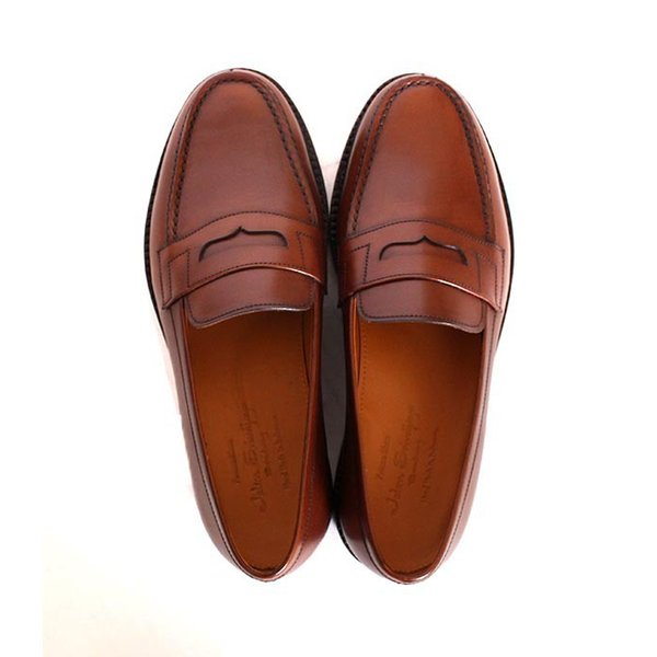 JALAN SRIWIJAYA ジャランスリウァヤ 98589 ブラウン コインローファー ペニーローファー Uチップモカ カーフレザー レザーソール|loop-shoes|12