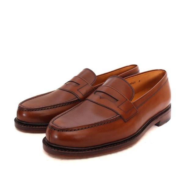 JALAN SRIWIJAYA ジャランスリウァヤ 98589 ブラウン コインローファー ペニーローファー Uチップモカ カーフレザー レザーソール|loop-shoes|04