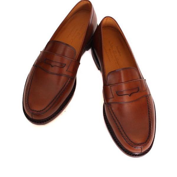 JALAN SRIWIJAYA ジャランスリウァヤ 98589 ブラウン コインローファー ペニーローファー Uチップモカ カーフレザー レザーソール|loop-shoes|06