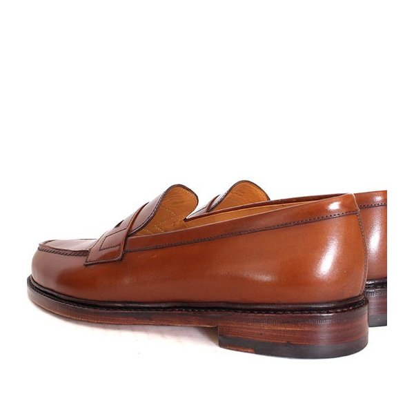 JALAN SRIWIJAYA ジャランスリウァヤ 98589 ブラウン コインローファー ペニーローファー Uチップモカ カーフレザー レザーソール|loop-shoes|07