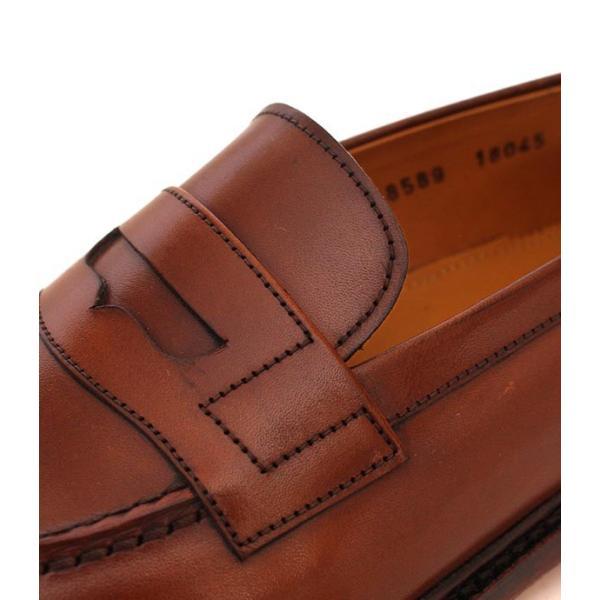 JALAN SRIWIJAYA ジャランスリウァヤ 98589 ブラウン コインローファー ペニーローファー Uチップモカ カーフレザー レザーソール|loop-shoes|09