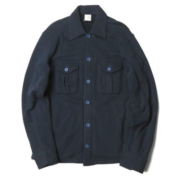 ループウィラー LOOPWHEELER 日本製 スウェットCPOシャツ M ネイビー ジャケット トップス|looponline