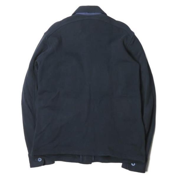 ループウィラー LOOPWHEELER 日本製 スウェットCPOシャツ M ネイビー ジャケット トップス|looponline|02