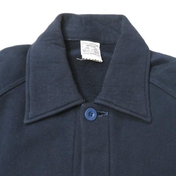 ループウィラー LOOPWHEELER 日本製 スウェットCPOシャツ M ネイビー ジャケット トップス|looponline|04