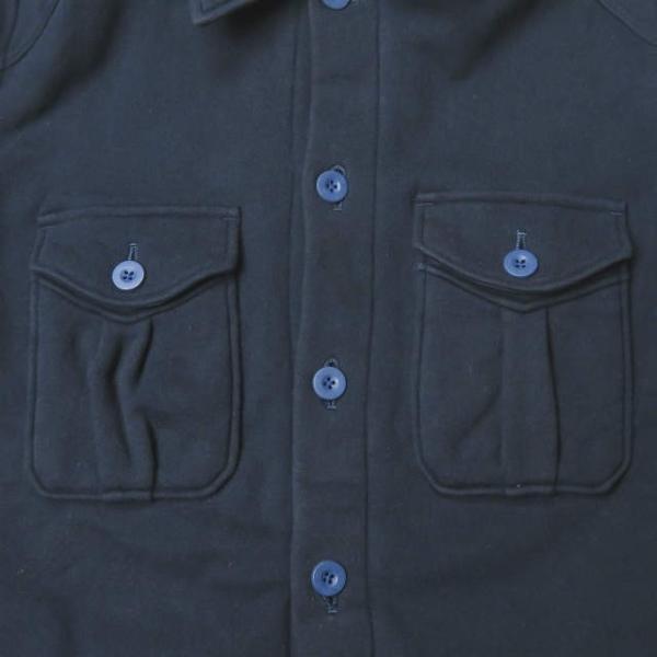 ループウィラー LOOPWHEELER 日本製 スウェットCPOシャツ M ネイビー ジャケット トップス|looponline|05