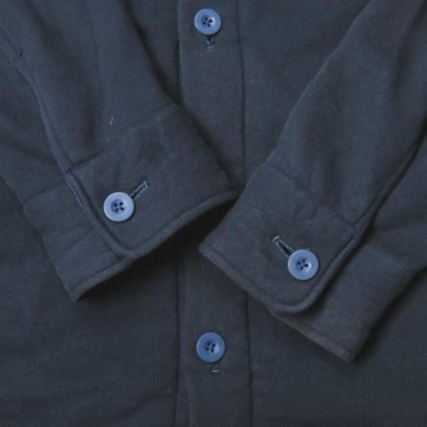 ループウィラー LOOPWHEELER 日本製 スウェットCPOシャツ M ネイビー ジャケット トップス|looponline|07