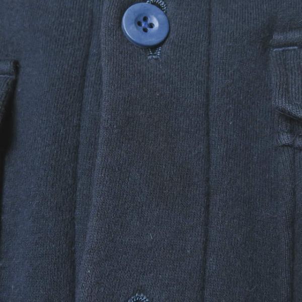ループウィラー LOOPWHEELER 日本製 スウェットCPOシャツ M ネイビー ジャケット トップス|looponline|09