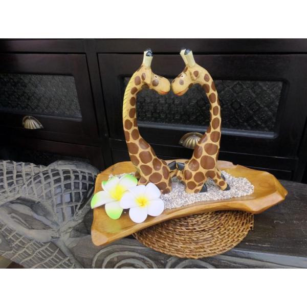 インテリア 置物 キリン 手作り 手彫り アジアン アジアン家具|loopsky