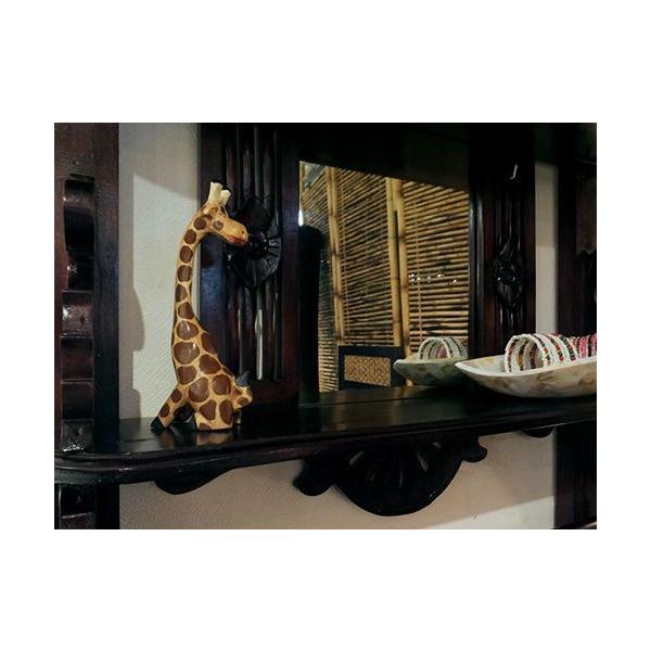 インテリア 置物 キリン 手作り 手彫り アジアン アジアン家具|loopsky|03