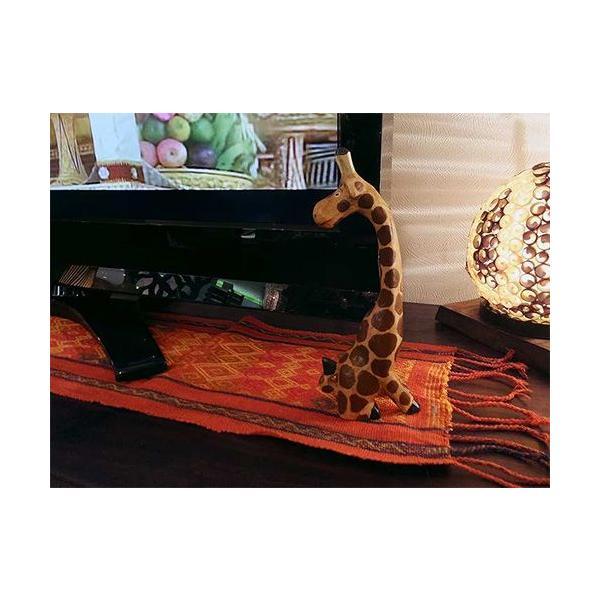 インテリア 置物 キリン 手作り 手彫り アジアン アジアン家具|loopsky|04