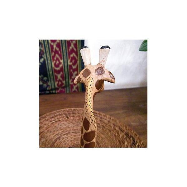 インテリア 置物 キリン 手作り 手彫り アジアン アジアン家具|loopsky|05