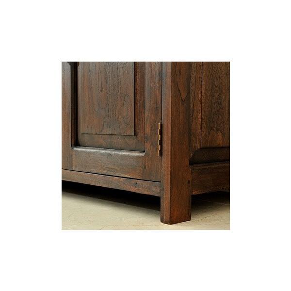 キャビネット アジアン家具 アジアン家具 チーク無垢材 おしゃれ 幅120 木製 バリ リゾート インテリア モダン 高級感 サイドボード チェスト 収納 完成品|loopsky|05