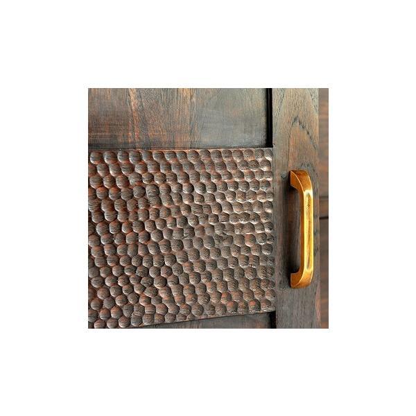 キャビネットアジアン家具 チーク無垢材 おしゃれ 幅100 木製 バリ リゾート インテリア モダン 高級感 サイドボード チェスト 収納|loopsky|07