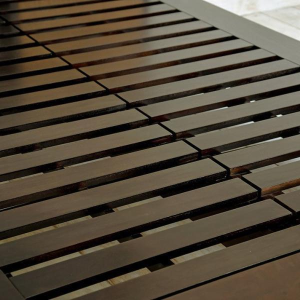 アジアン家具 ベッドフレーム ウォーターヒヤシンス シングル すのこベッド マホガニー無垢材 おしゃれ バリ リゾート モダン セミオーダー対応|loopsky|10