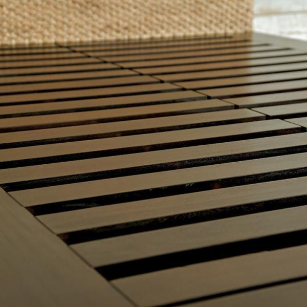 アジアン家具 ベッドフレーム ウォーターヒヤシンス クイーン すのこベッド マホガニー無垢材 おしゃれ バリ リゾート モダン セミオーダー対応|loopsky|11