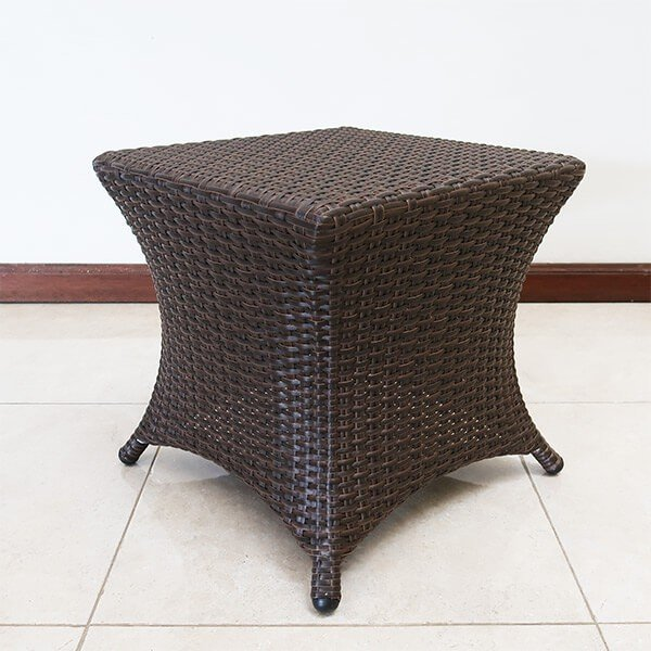 ガーデンテーブル ラタン調 おしゃれ アジアン家具 バリ リゾート インテリア モダン 高級感 サイドテーブル ガーデン用 テラス 屋外