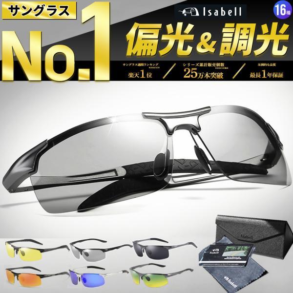 |サングラス メンズ 偏光 調光 偏光サングラス 偏光調光 UVカット スポーツ スポーツサングラス…