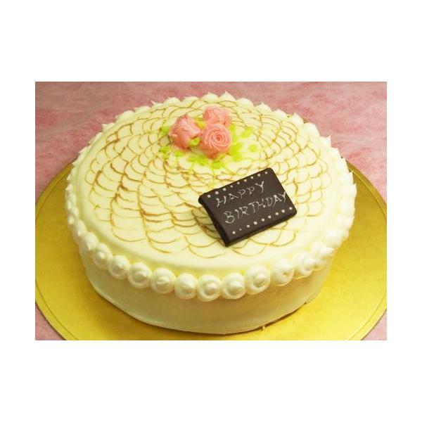 バタークリームケーキ 誕生日 ケーキ レース上のバラ バターデコレーション ケーキ クリスマスケーキ バタークリーム (お菓子工房 ロリアン)