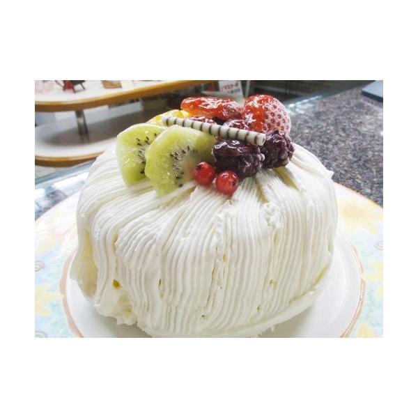 クリスマスケーキ シフォンケーキ ふわふわ シフォンケーキ フルーツ仕上げ バースデー 誕生日ケーキ (お菓子工房 ロリアン)