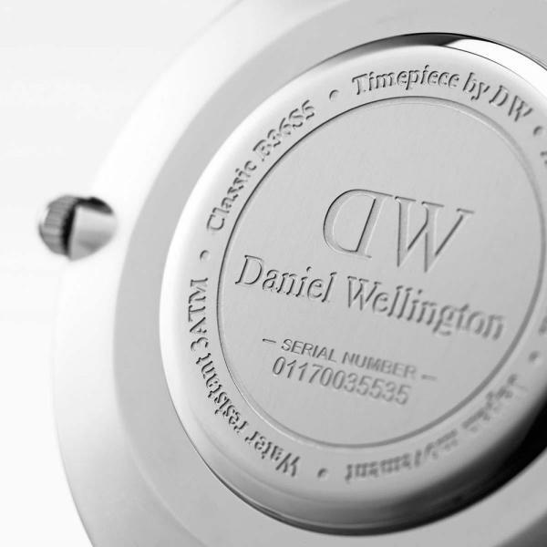 ダニエルウェリントン 腕時計 クラシック 36mm ベイズウォーター シルバー ホワイト メンズ レディース DW00100280