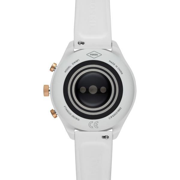 スマートウォッチ フォッシル 腕時計 タッチスクリーン スポーツ 41mm 日本語対応 グレーシリコン FOSSIL SPORT FTW6025
