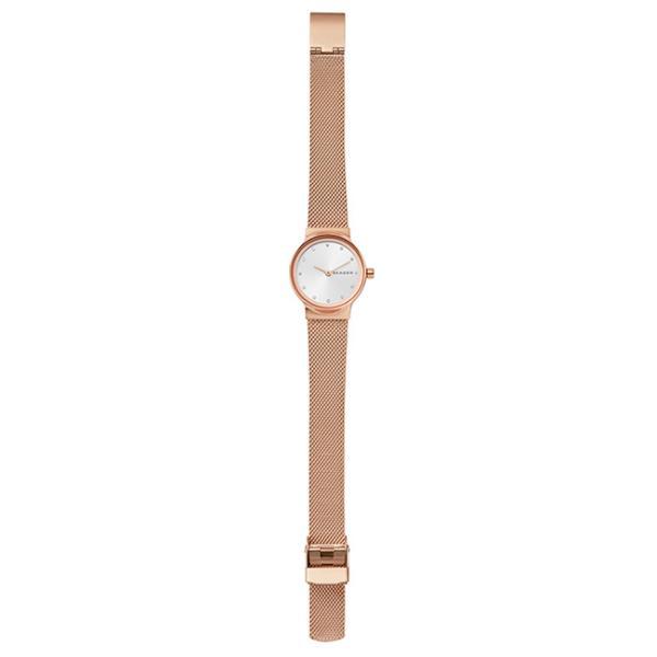 スカーゲン 腕時計 レディース SKAGEN FREJA フレヤ スチール・メッシュ 26mm シルバーサンレイ/ローズゴールド SKW2665