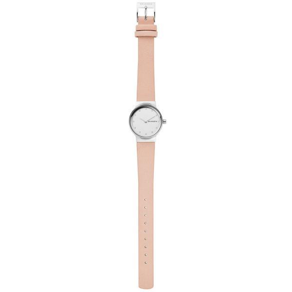 スカーゲン 腕時計 レディース フレヤ 26mm スチール・レザー シルバー/ピンク SKAGEN FREJA SKW2770