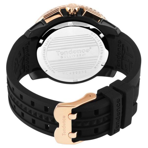 テンデンス 腕時計 ガリバー47 クロノ 47mm メンズ レディース ブラック/ピンクゴールド Tendence GULLIVER 47 TY460013