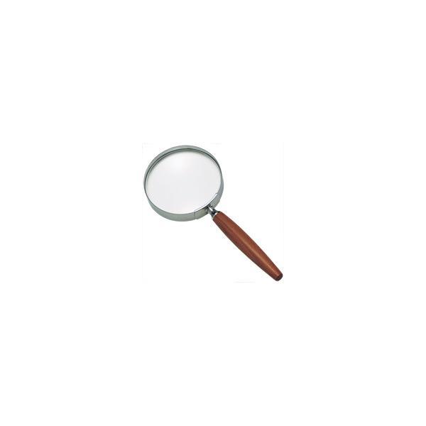 拡大鏡 手持ちルーペ 虫眼鏡 虫めがね 天眼鏡 木柄ルーペ 1441 2.5倍 90mm 池田レンズ ルーペ 拡大鏡