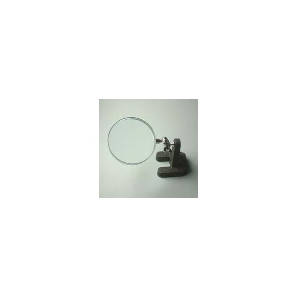 虫眼鏡 スタンド ルーペ 卓上 拡大鏡 スタンド式 小型スタンドルーペ 1630 2.5倍 75mm ルーペ スタンド 池田レンズ ガラスレンズ 日本