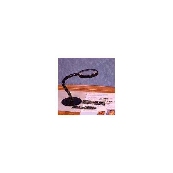 ルーペ 虫眼鏡 スタンド ルーペ 卓上 拡大鏡 スタンド式 グースネックルーペ 1720PS 2倍 100mm ルーペ スタンド|loupe