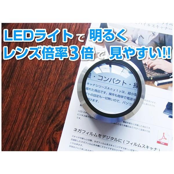 LED付ルーペ LED付き デスクルーペ 3倍 拡大鏡 スモリア SMOLIA 3R-SMOLIA-5 3R|loupe|02