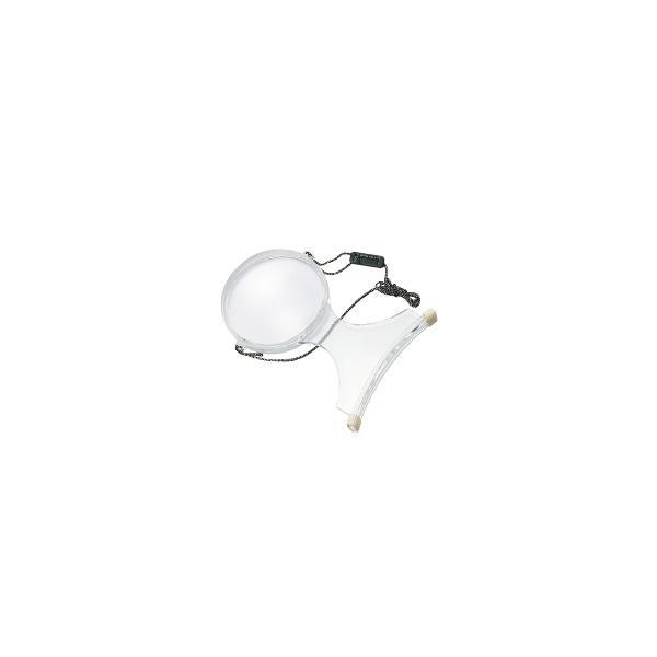 ルーペ 虫眼鏡 手芸用ルーペ 裁縫 6500-P 2倍&4倍 100mm 両手が自由に使える首掛け拡大鏡|loupe