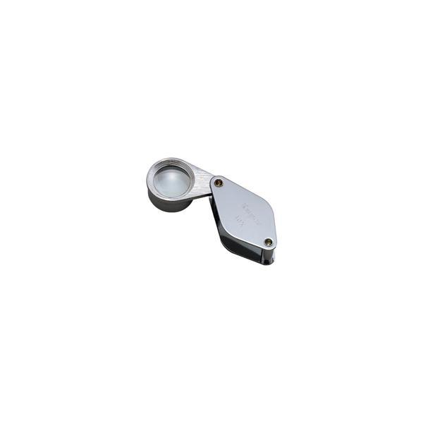 ルーペ 虫眼鏡 メタルホルダールーペ 7050 10倍 20mm 高倍率ルーペ|loupe