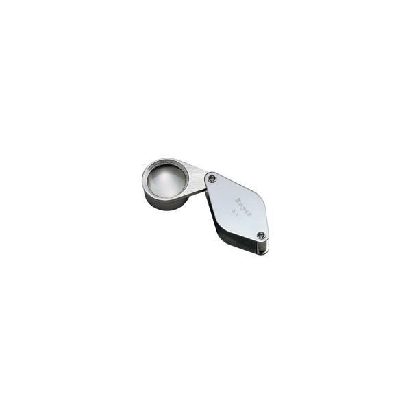 虫眼鏡 メタルホルダールーペ 7060 8倍 25mm 池田レンズ 拡大 拡大鏡 ルーペ 宝石鑑定 製図