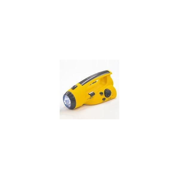 手回し 充電 ラジオ LED 懐中電灯 手動 発電 ハンディライト 防災グッズ 携帯充電 震災 非常用 災害対策|loupe