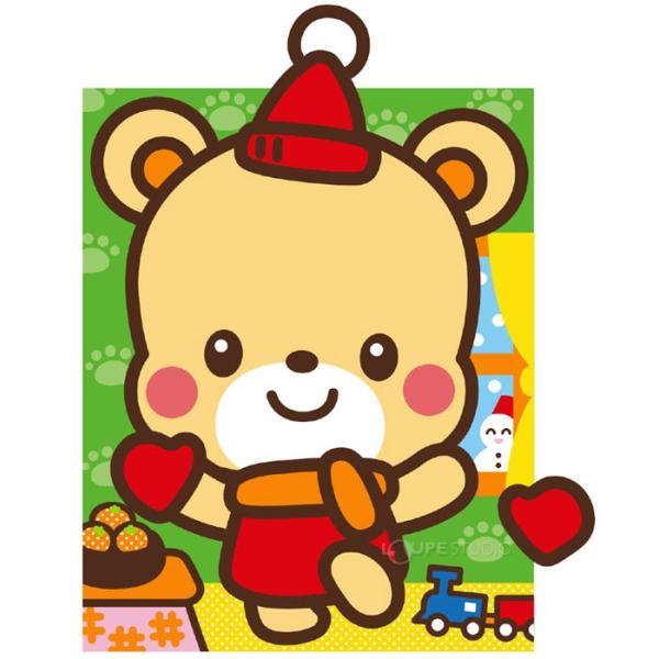 どうぶつ ふくわらい くま 福笑い クマ 熊 動物 かわいい イラスト 幼児