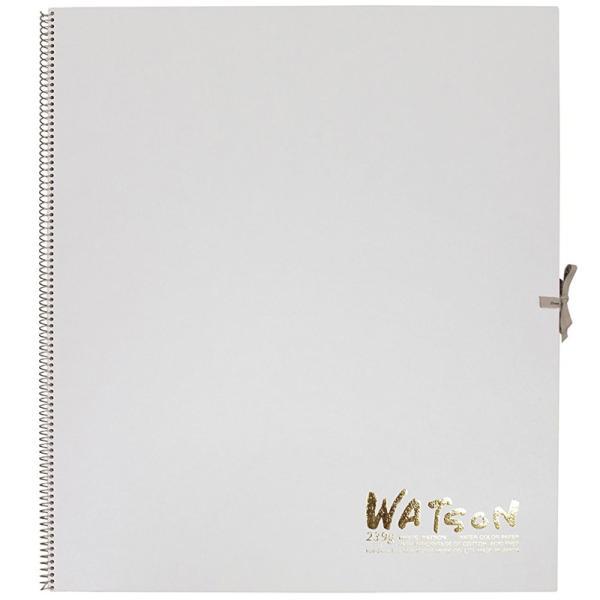 ミューズ 高級水彩紙 ホワイトワトソンブック 中性紙 HW-2410 F10 スケッチ ブック 画材 美術 写生 ノート デザイン イラスト 工作