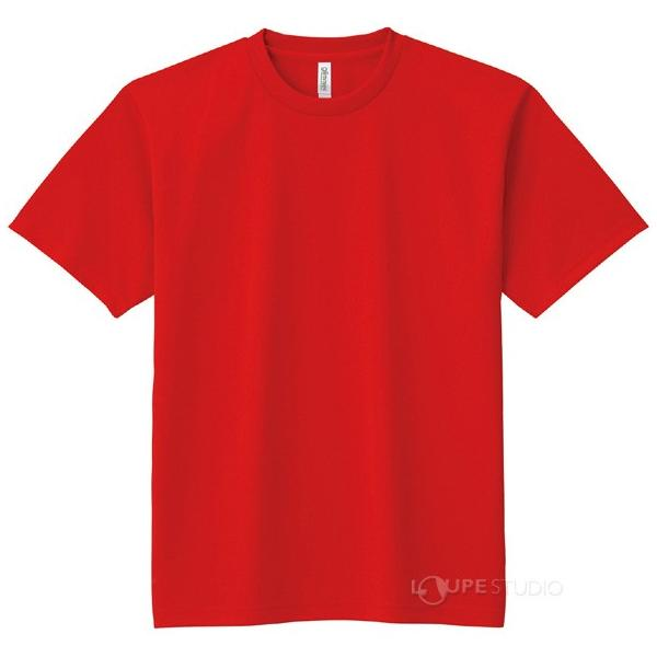 DXドライTシャツ レッド Tシャツ メンズ 速乾 半袖 レディース キッズ 子供 無地 loupe 02