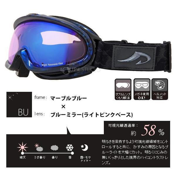 ゴーグル アックス ダブルワイドレンズ メガネ対応 16-17カタログモデル AXE スキー スノーボード 曇り止め加工 AX888-WBU|loupe|03