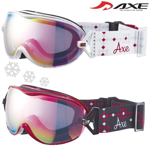 ゴーグル レディース 女性用 スノーボード スキー 曇り止め 17-18カタログモデル AX-650-WCM ダブルレンズ スノーゴーグル ヘルメ|loupe