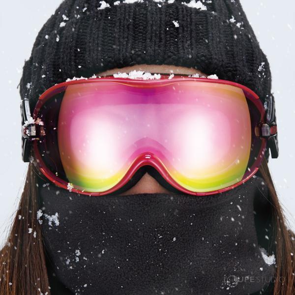 ゴーグル レディース 女性用 スノーボード スキー 曇り止め 17-18カタログモデル AX650-WCM ダブルレンズ スノーゴーグル ヘルメッ|loupe|05
