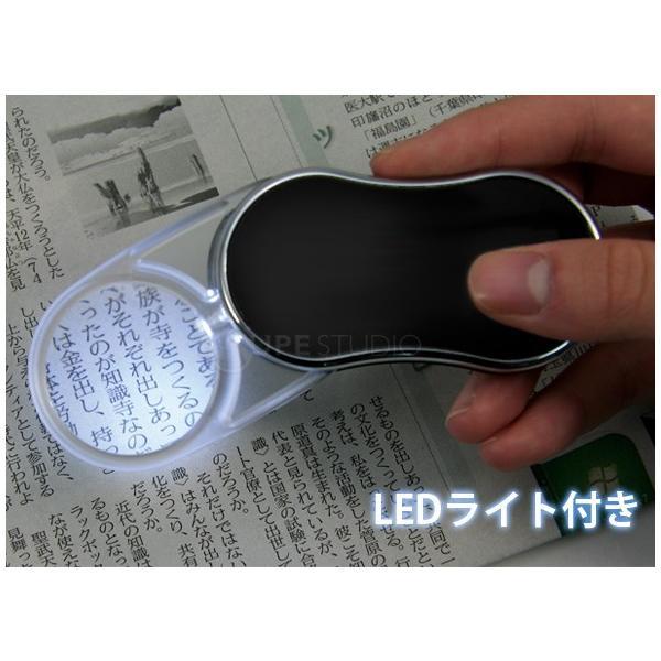 ルーペ LEDライト付き 携帯 スイングルーペ CLE-35P 無地 3.5倍 35mm ポケットルーペ スライドルーペ アウトレット|loupe|03