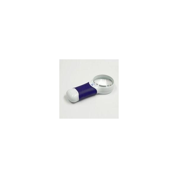 ルーペ LEDライト付き 携帯 高倍率 おすすめ 虫眼鏡 拡大鏡 弱視 5倍 60mm ハンドルーペ 検査 検品 ロービジョン オートタッチ マックス