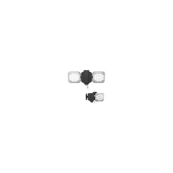 センサーライト 屋外 屋内 LEDライト 12W×2灯 コンセント式 防雨型 フリーアーム式 玄関 駐車場 人感センサー 投光器 自動点灯 防犯