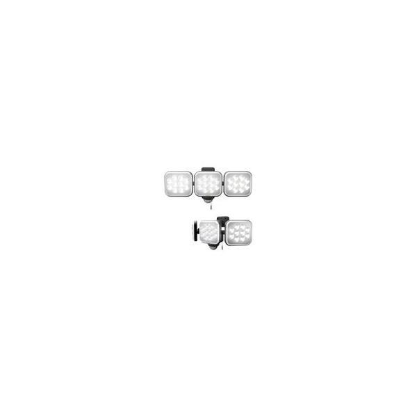 センサーライト 屋外 屋内 LEDライト 12W×3灯 コンセント式 防雨型 フリーアーム式 玄関 駐車場 人感センサー 投光器 自動点灯 防犯