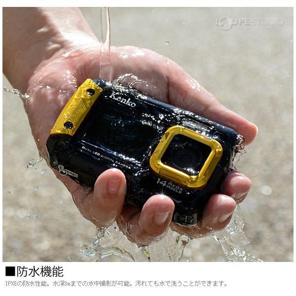 カメラ 防水 小型 デジタルカメラ マイクロSDカード8GB付・強撥水デジカメポーチ付 アクションカメラ|loupe|04